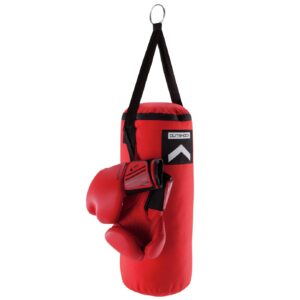 Decathlon Junior Punch Bag with Boxing Gloves - Red