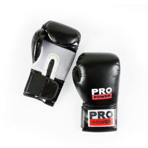 Pro Power 12oz Boxing Gloves - Black and Red
