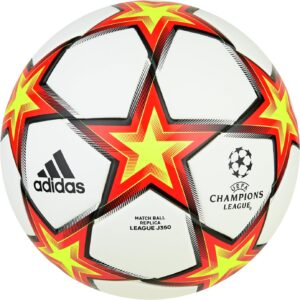 Adidas Champions League Size 5 Football - Red/Yellow