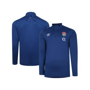 England Rugby 1/4 Zip Mid Layer Top - Mens