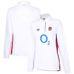 England Rugby Home Classic Long Sleeve Jersey 2021/22 - White - Womens